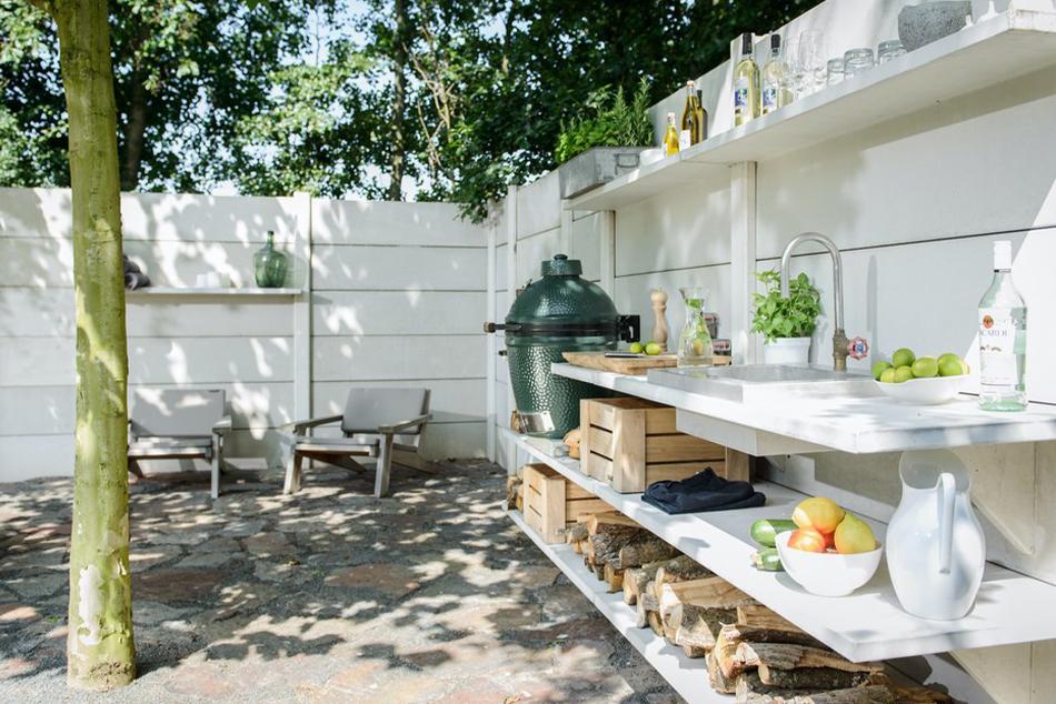 Outdoorküchen mit passenden Outdoortischen
