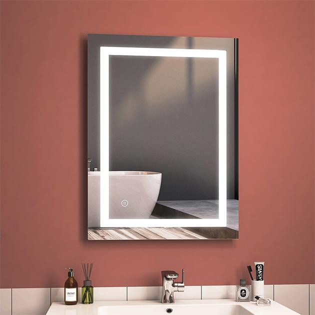 Multifunktionaler EMKE-LED Badspiegel mit Touch-Beleuchtung für die Wand