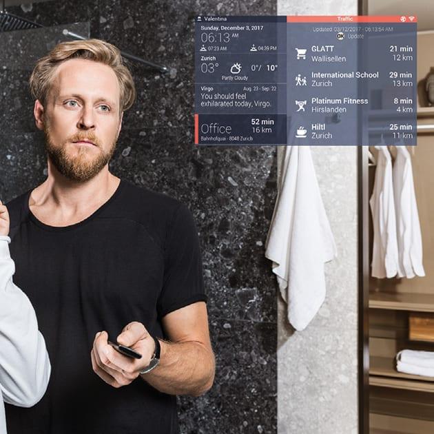 Intelligent vernetzter Smart Mirror ist mehr als nur ein optional beleuchteter Spiegel