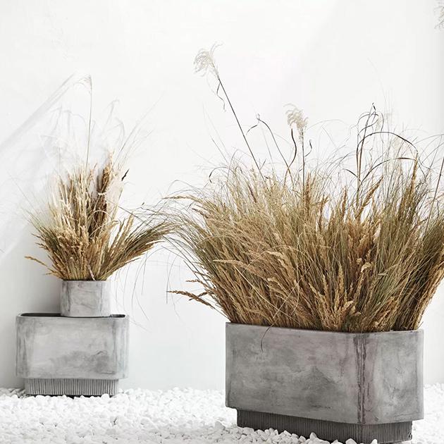 Highlands Planter Blumentöpfe aus Faserbeton für innen und außen