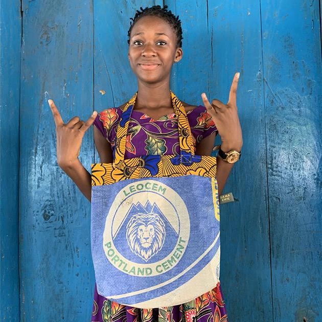 Einkaufstasche Lionbag – nachhaltig und produziert in Sierra Leone