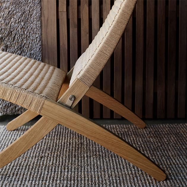 Cuba Chair Klappstuhl von Carl Hansen -Loungestuhl in Flechtoptik für unterschiedliche Wohnbereiche