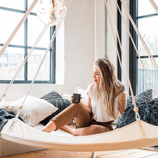 TiiPii Hängebett für Out- und Inndoor mit praktischer Tragetasche